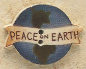 43110 - Peace On Earth - 1 1/8in x 7/8in